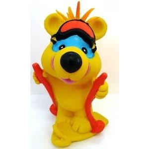 Латексная игрушка LANCO Мишка-лыжник ( ODA-062)