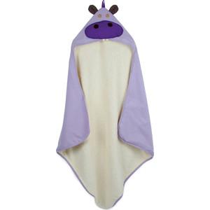 3 Sprouts Детское полотенце с капюшоном Бегемотик (Purple Hippo) (28609)