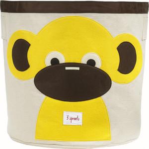 3 Sprouts Корзина для хранения Обезьянка (Yellow Monkey) (67541)