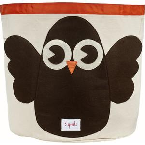 Фотография товара 3 Sprouts Корзина для хранения Сова (Brown Owl) (67551) (608653)