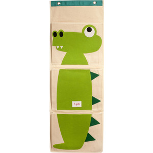3 Sprouts Органайзер на стену Крокодил (Green Crocodile) (67401)