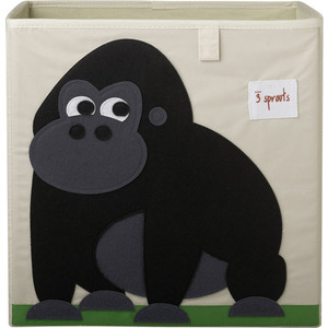 3 Sprouts Коробка для хранения Горилла (Black Gorilla) (27250)