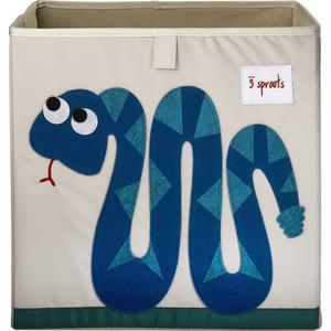 3 Sprouts Коробка для хранения Змейка (Blue Snake) (00008)