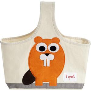 3 Sprouts Сумочка для хранения детских принадлежностей Бобр (Orange Beaver) (67651)