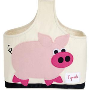 3 Sprouts Сумочка для хранения детских принадлежностей Свинка (Pink Pig) (67681)