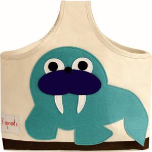 3 Sprouts Сумочка для хранения детских принадлежностей Морж (Blue Walrus) (67691)