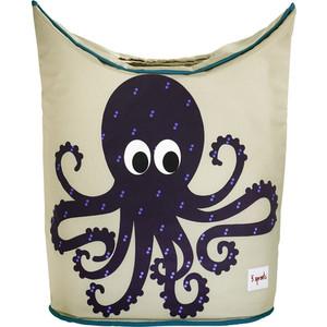 3 Sprouts Корзина для белья Осьминог (Purple Octopus) (00013)