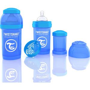 Twistshake Антиколиковая бутылочка для кормления 180 мл. Синяя (780002) twistshake антиколиковая бутылочка для кормления 260 мл синяя 780008