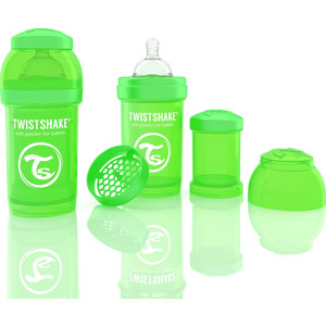 Twistshake Антиколиковая бутылочка для кормления 180 мл. Зелёная (780004)