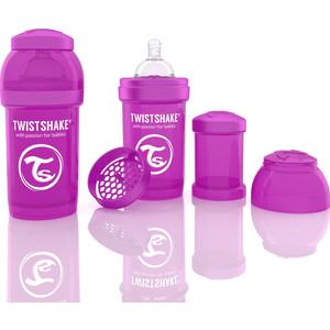 Twistshake Антиколиковая бутылочка для кормления 180 мл. Фиолетовая (780005) twistshake антиколиковая бутылочка для кормления 260 мл синяя 780008