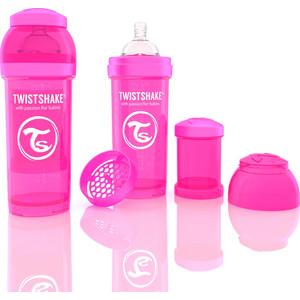 Twistshake Антиколиковая бутылочка для кормления 260 мл. Розовая (780007) twistshake антиколиковая бутылочка для кормления 260 мл синяя 780008