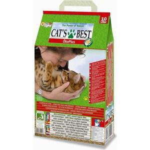 Наполнитель Cat's Best Eko Plus древесный комкующийся для кошек 4,3кг (10л)