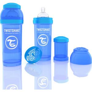 Twistshake Антиколиковая бутылочка для кормления 260 . Синяя (780008)