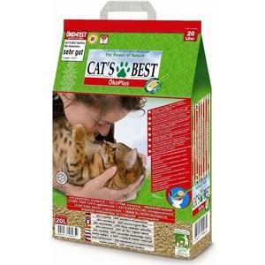 Наполнитель Cat's Best Eko Plus древесный комкующийся для кошек 8,6кг (20л)