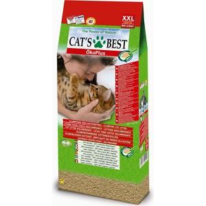 Наполнитель Cat's Best Eko Plus древесный комкующийся для кошек 17,2кг (40л)
