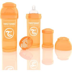 Twistshake Антиколиковая бутылочка для кормления 260 мл. Оранжевая (780009) twistshake антиколиковая бутылочка для кормления 260 мл синяя 780008
