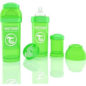 Twistshake Антиколиковая бутылочка для кормления 260 мл. Зелёная (780010) twistshake антиколиковая бутылочка для кормления 260 мл синяя 780008