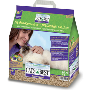 Наполнитель Cat's Best Nature Gold древесный комкующийся для кошек 2,5кг (5л)