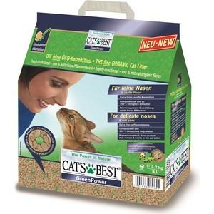 Наполнитель Cat's Best Green Power древесный комкующийся для кошек 3,2кг (8л)