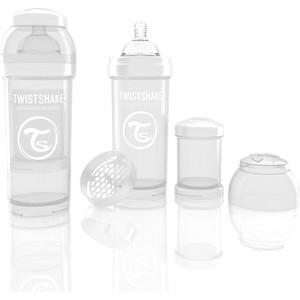 Twistshake Антиколиковая бутылочка для кормления 260 мл. Белая (780012)