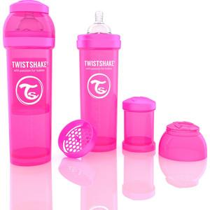 Twistshake Антиколиковая бутылочка для кормления 330 мл. Розовая (780013) авент бутылочка для кормления пп 260мл 2шт розовая арт 81450 scf683 27