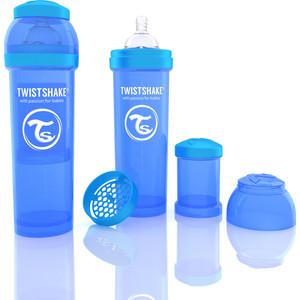 Twistshake Антиколиковая бутылочка для кормления 330 мл. Синяя (780014) twistshake антиколиковая бутылочка для кормления 260 мл синяя 780008