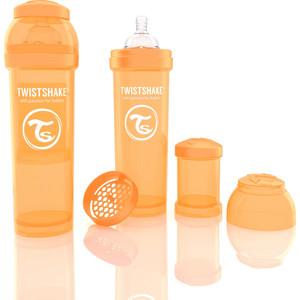 Twistshake Антиколиковая бутылочка для кормления 330 мл. Оранжевая (780015) twistshake антиколиковая бутылочка для кормления 260 мл синяя 780008