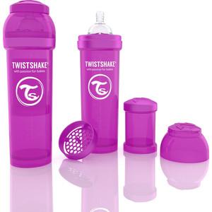 Twistshake Антиколиковая бутылочка для кормления 330 мл. Фиолетовая (780017) twistshake антиколиковая бутылочка для кормления 260 мл синяя 780008