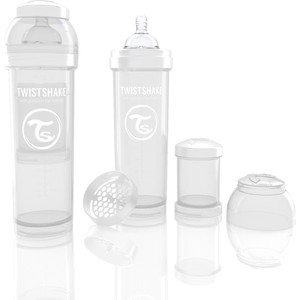 Twistshake Антиколиковая бутылочка для кормления 330 мл. Белая (780018) twistshake антиколиковая бутылочка для кормления 260 мл синяя 780008