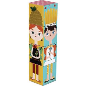 Krooom Игрушки из картона: Stack&Match кубики Лесные феи (k-441) развивающие игрушки krooom из картона stack