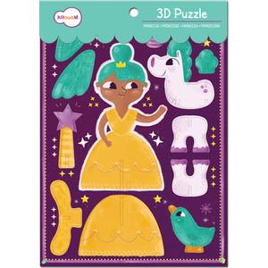 Krooom Игрушки из картона: 3D пазл Принцесса (k-702) krooom из картона stack