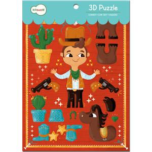 Krooom Игрушки из картона: 3D пазл Ковбой (k-703) игрушки из картона 3d пазл львы krooom ут 00009493