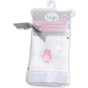 Lulujo Набор (2 шт.) защитных покрывалец Сова в тебя влюблена Owl Always Love You - Розовый Pink, 40х40 см. (45042) lulujo муслиновая пелёнка двусторонняя 120х120 lulujo passion pink