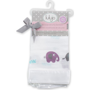 Lulujo Набор (2 шт.) защитных покрывалец Слоники Elephants, 40х40 см. (45044) lulujo муслиновая пелёнка двусторонняя 120х120 lulujo passion pink