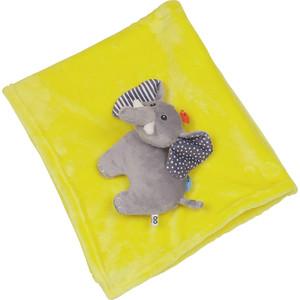 Zoocchini Одеяло с игрушкой Слон / жёлтое (00517)