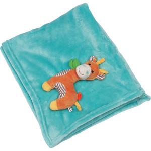 Zoocchini Одеяло с игрушкой Жираф / аква (00519)
