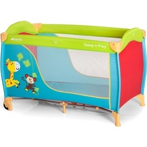 Манеж Hauck Sleep`n Play Go Plus (Jungle Fun) манеж hauck dream n play plus navy aqua 603666
