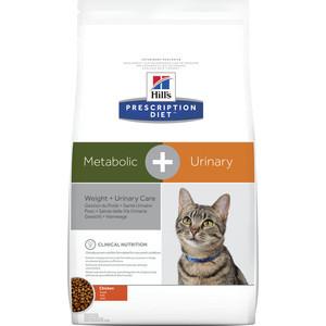 Сухой корм Hill's Prescription Diet Metabolic & Urinary with Chicken с курицей диета при коррекции веса и урологии для кошек 1,5кг (10040) 5 boxes super calcium with metabolic factors 10g bag 10 bags