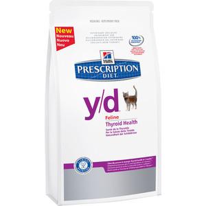 Сухой корм Hill's Prescription Diet y/d Thyroid Health диета при лечении гипертиреоза для кошек 1,5кг(1680)