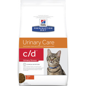 Сухой корм Hill's Prescription Diet c/d Urinary Care Urinary Stress with Chicken с курицей диета при цистите для кошек 1,5кг (2842)