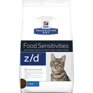 Сухой корм Hill's Prescription Diet z/d Food Sensitivities Original диета при лечении пищевых аллергий для кошек 2кг (4565) сухой корм farmina vet life diabetic feline диета при сахарном диабете для кошек 2кг 25326