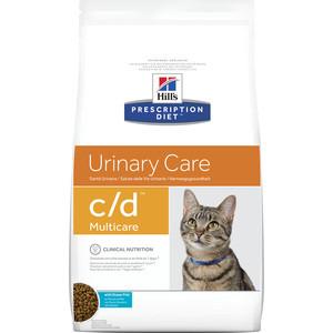 Сухой корм Hill's Prescription Diet c/d Urinare Care Milticare with Ocean Fish с рыбой диета при профилактике МКБ для кошек 1,5кг (9184) все цены