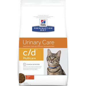 Сухой корм Hill's Prescription Diet c/d Urinary Care Milticare with Chicken с курицей диета при профилактике МКБ для кошек 1,5кг (9185)