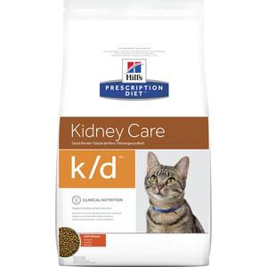 Сухой корм Hill's Prescription Diet k/d Kidney Care with Chicken с курицей диета при лечении заболеваний почек и МКБ для кошек 1,5кг (9186) цена и фото