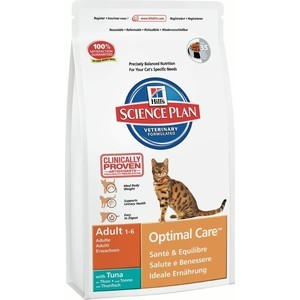 Hill's Science Plan Optimal Care Adult with Tuna с тунцом для кошек 10кг (4231) корм hills science plan optimal care adult лосось 85g для кошек 4535