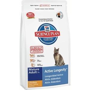 Сухой корм Hill's Science Plan Active Longevity Mature Adult 7+ with Chicken с курицей для пожилых кошек 10кг (6292)