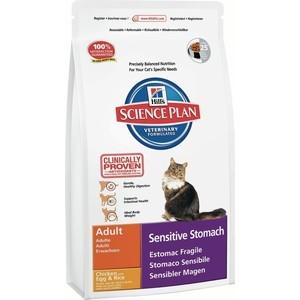 Сухой корм Hill's Science Plan Sensitive Stomach Adult with Chicken с курицей для кошек с чувствительным желудком 1,5кг (7619)