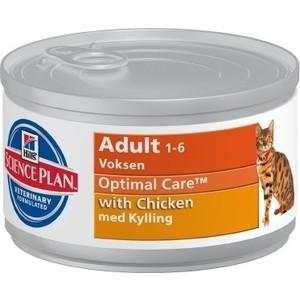 Консервы Hill's Science Plan Optimal Care Adult with Chicken с курицей для кошек 82г (10801) pzt piezoelectric ceramic atomizer medical piezoelectric ceramic piece