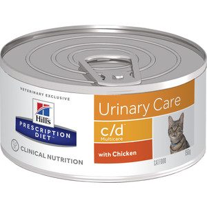 Консервы Hill's Prescription Diet c/d Urinary Care Milticare with Chicken с курицей диета при профилактике МКБ для кошек 156г (9451) female male urinary human female urinary system model female urinary organ system model human urinary system organ gasen sz021