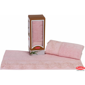 Полотенце Hobby home collection Almeda 50x90 см пудра (1501000375)